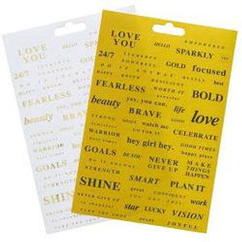 Teresa Collins Designer Stickers 2/Sheets Brightside Word