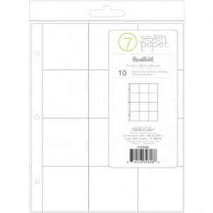 9x12 Page Protectors 3x4 pockets