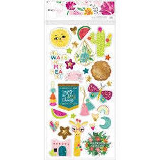 Dear Lizzy - New Day Chipboard Stickers
