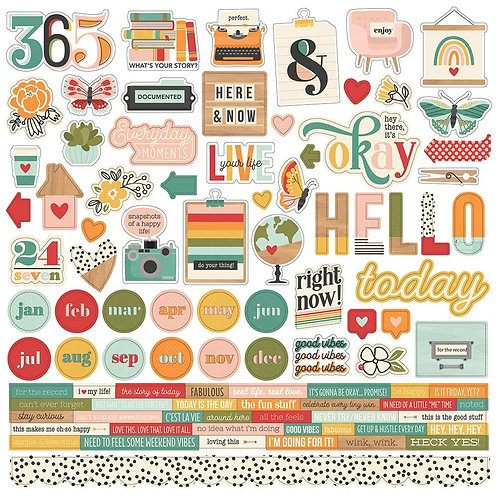 Hello Today 12x12 Sticker Sheet