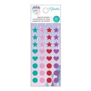 American Crafts - Shimelle Sparkle City Collection - Enamel Dots With Glitter Ac