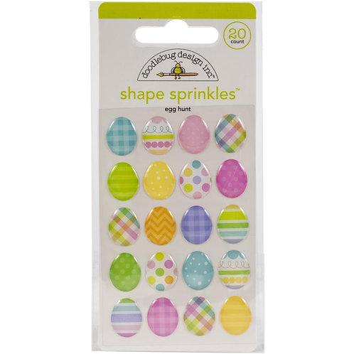 Doodlebug Sprinkles Adhesive Enamel Shapes - Egg Hunt