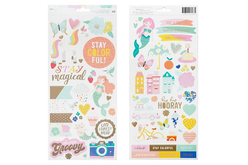 Dear Lizzy Colorful 6x12 Sticker Sheet