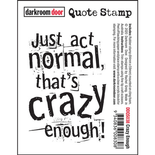 Darkroom Door - Crazy Enough Stamp