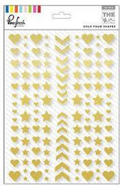 Pinkfresh Studios - In the Mix - Gold Enamel Shapes