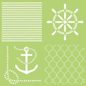 12x12 Anchors Aweigh Stencil