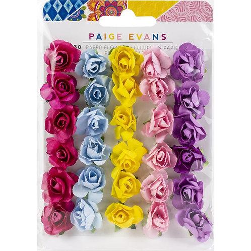 Paige Evans Wonders Dimensional Paper Flowers 30/Pkg