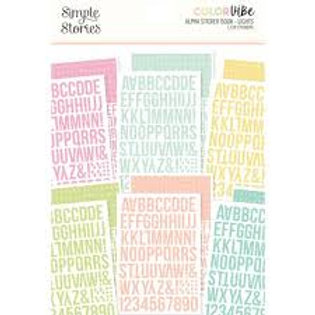 Simple Stories - Colour Vie - Alpha Sticker Book - Lights