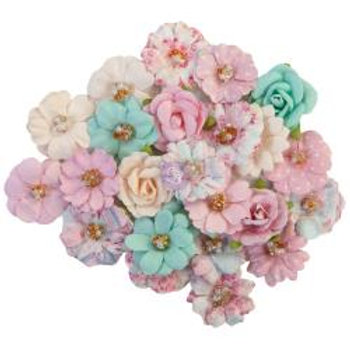 Prima Marketing Mulberry Paper Flowers Friends Forever/With Love