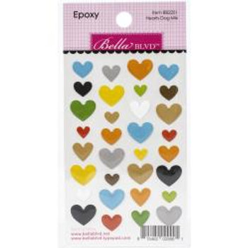 Cooper Epoxy Stickers Hearts Dog