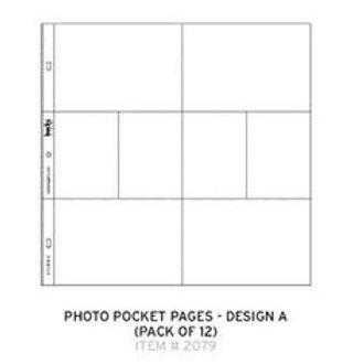 Project Life  - 12PK DES A-PROJECT L POCKET PGS