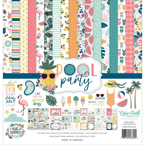 """Echo Park Collection Kit 12""""X12"""" Pool Party"""