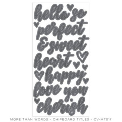 Cocoa Vanillia - More then Words - Chipboard Titles