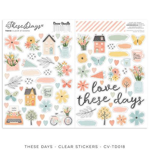 Cocoa Vanilla Studios *PRE-ORDER* THESE DAYS – Clear Stickers