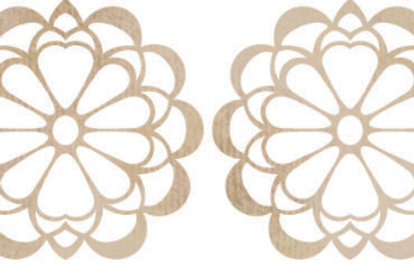 Wooden Flourishs - Floral