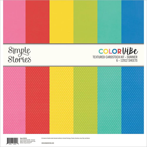 Simple Stories Color Vibe Double-Sided Paper Pack 6/Pkg