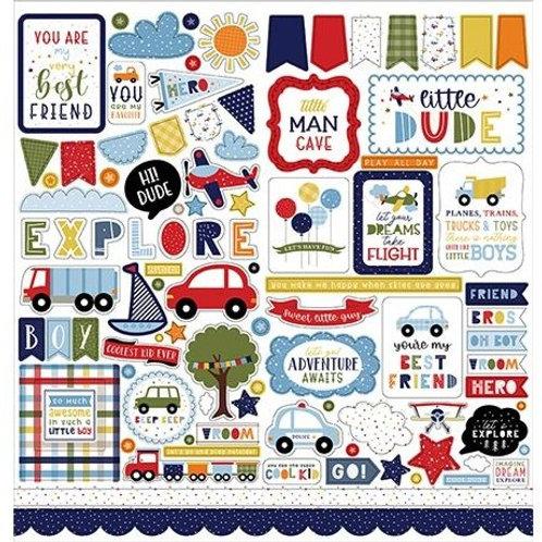 """Little Dreamer Boy Cardstock Stickers 12""""X12"""""""