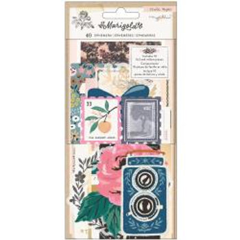 Maggie Holmes Marigold Ephemera Die-Cuts 40/Pkg Cardstock & Vellum