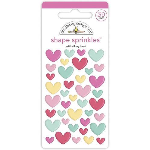 Doodlebug Design - Shape Sprinkles - All my Heart