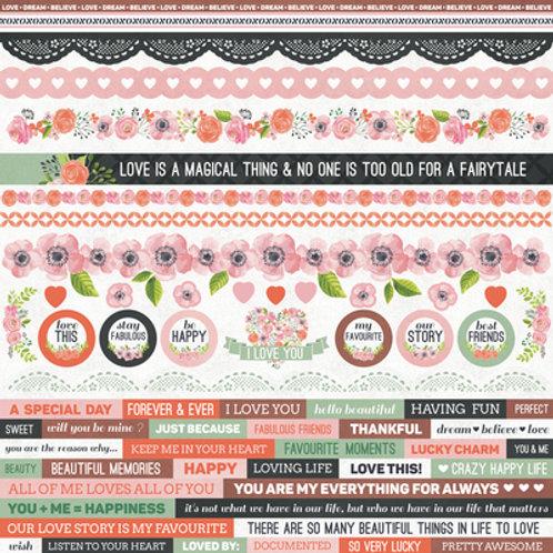 Kaisercraft Sticker Sheet - True Love