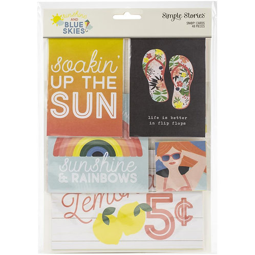 Simple Stories Sn@p! Card Pack 48/Pkg Sunshine