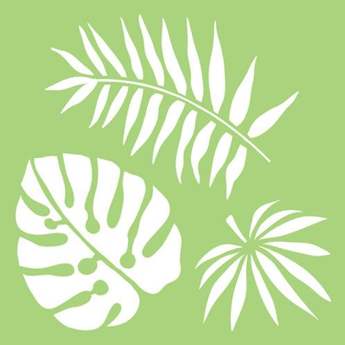 6x6 Designer Template - Tropical Leaves