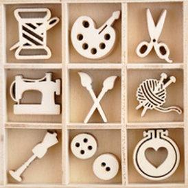 Wooden Flourish Pack - Crafternoon