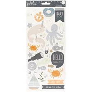Pebbles - Night Night Baby Boy 6x12 Sticker Sheet