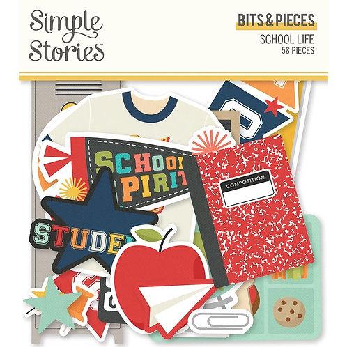 School Life Bits & Pieces Die-Cuts 58/Pkg