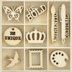 Wooden Flourish Pack - Artist