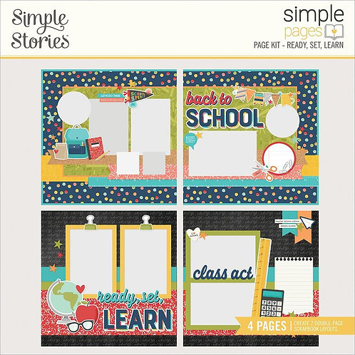 Simple Stories Simple Pages Page Kit - Ready Set Learn