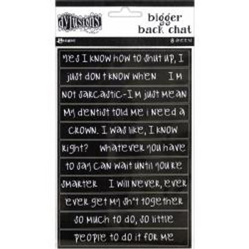 Dyan Reaveley's Dylusions Bigger Back Chat Stickers - Black