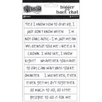 Dyan Reaveley's Dylusions Bigger Back Chat Stickers