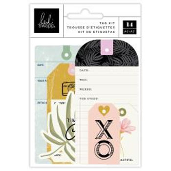 Heidi Swapp Old School Tag Set 14/Pkg W/Cotton Cording