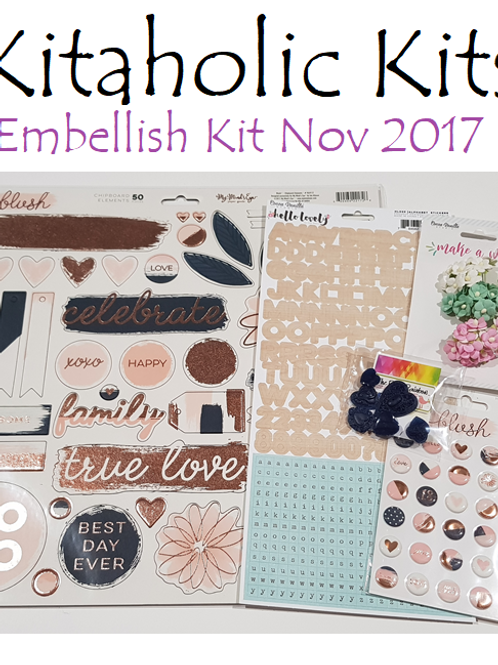 Kitaholic Kits - November 2017 Embellish Kit