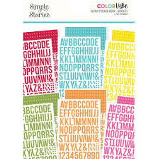 Simple Stories - Colour Vie - Alpha Sticker Book - Brights