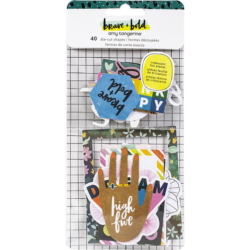 Amy Tan Brave & Bold Ephemera Die-Cuts 40/Pkg