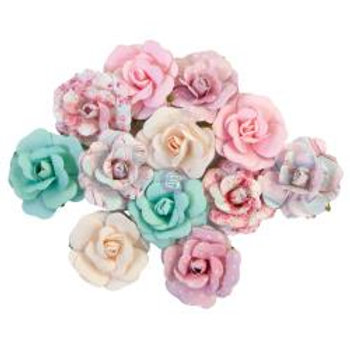 Prima Marketing Mulberry Paper Flowers Lovely Bouquet/With Love