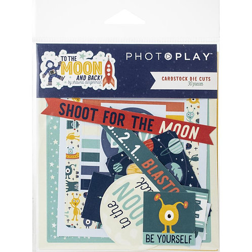 To The Moon And Back Ephemera Cardstock Die-Cuts 30/Pkg