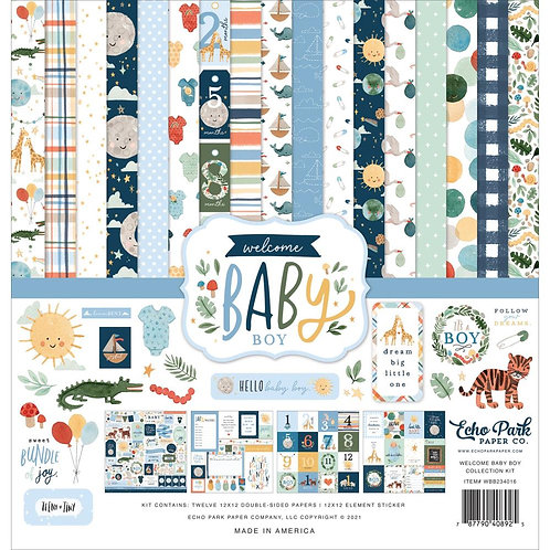 Welcome Baby Boy - Paper Kit