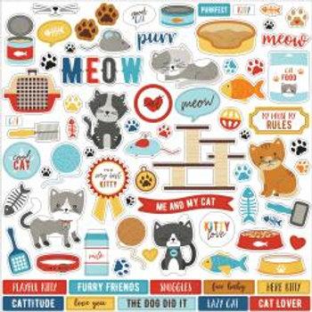 "I Love my Cat Cardstock Stickers 12""X12"""