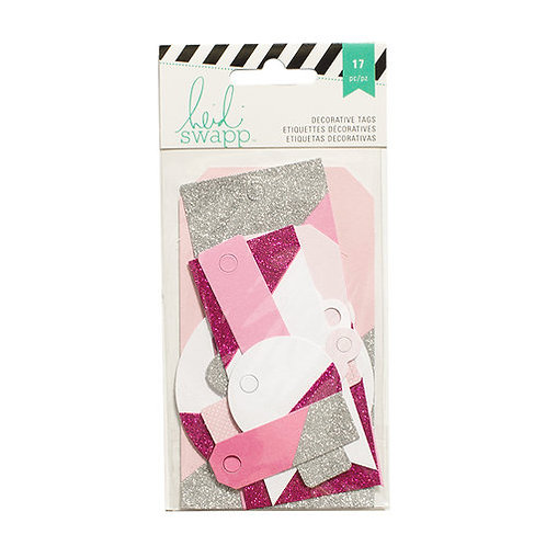 Heidi Swapp Decorative Tags - Hot Pink