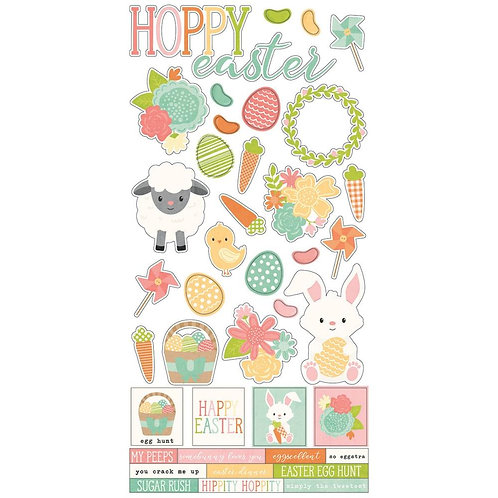 Simple Stories - Bunnies and Baskets 6x12 Stickers