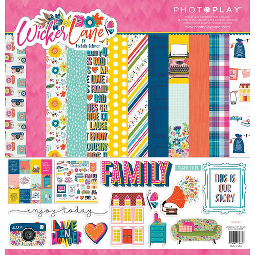 """PhotoPlay Collection Pack 12""""X12"""" Wicker Lane"""