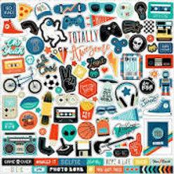 Echo Park - Teen Spirit 12x12 Sticker Sheet