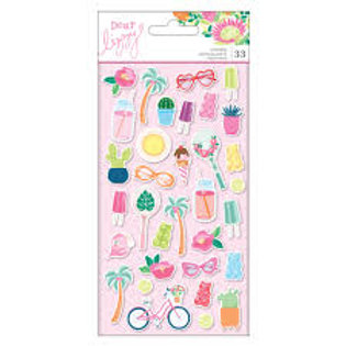 Dear Lizzy - Here &Now - Puffy Stickers