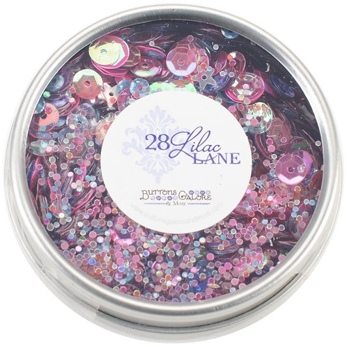 28 Lilac Lane Tin W/Sequins 40g - Mixed Berry