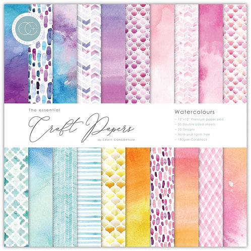 """Craft Consortium Double-Sided Paper Pad 12""""X12"""""""