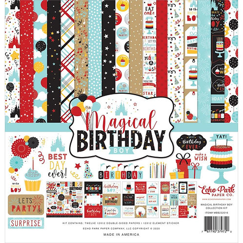 "Echo Park Collection Kit 12""X12"" - Magical Birthday Boy"