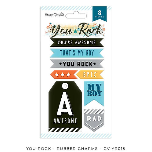 Cocoa Vanilla - You Rock Rubber Charms